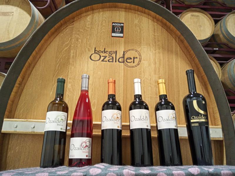 Weinsortiment Bodega Ozalder