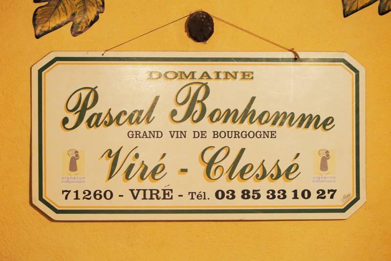 Werbetafel Domaine Pascal Bonhomme